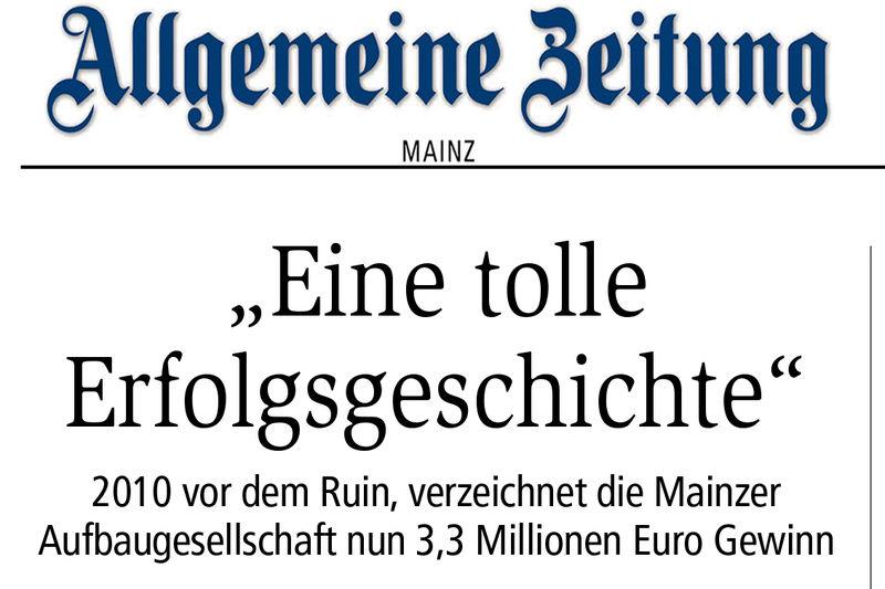 Mainzer allgemeine zeitung kennenlernen